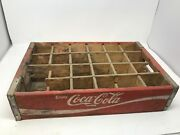 Vintage 24 Wood Red Coca Cola Soda Bottle Carrier Crate Box 1970s