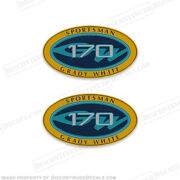 Grady White Sportsman 170 Logo Decals Set Of 2 - Decal Reproductions In Stock