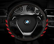 New Black /red Car Steering Wheel Cover Hand Pad Buffer Size M 14.5 15.5