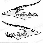 Springbok Boat Logo Decals - 1970and039s Set Of 2
