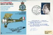 Great War, Raf And 1st Klm Airline Pilot Who Gave Douglas Bader A Job Signed Cover