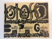 Alfonso Ossorio Rare Exhibition Poster 1959 Betty Parsons Gallery