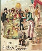 1880's Victorian Trade Card Rubber Paint Co. Kalsomine People Uncle Sam P125