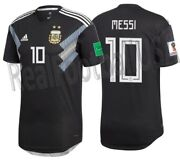 Adidas Lionel Messi Argentina Authentic Match Away Jersey World Cup 2018 Patches