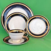 Eminence Cobalt Rosenthal 5 Piece Place Setting New Never Used Made In Germany