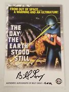 Autograph Of Billy Gray - The Day The Earth Stood Still Movie Poster Card 2006