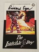 Richard Eyer Autographed Movie Poster Card - The Invisible Boy