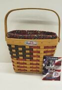 Longaberger Signed 25th Anniversary Basket Combo Patriotic 8 Family Signatures