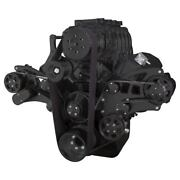 Black Bbc Serpentine Kit For Supercharger 454 396 Ac Kit For Root Style Blower