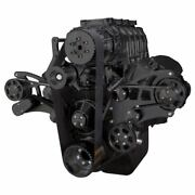 Black Bbc Serpentine Kit For Supercharger 454 396 Ps Kit For Root Style Blower
