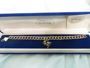 Disney Sterling Silver Charm Collection Bracelet Feat Moving Foot Thumper 1994