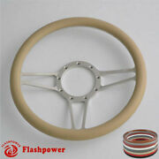 14and039and039 Billet Steering Wheels Tan Street Rod Ford Gm Corvair Impala Chevy Ii Gmc