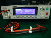 Kikusui Tos3200 Leakage Current Tester With Tl21-tos Test Cables