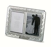 Waterford Wedding Announcement Double 4x6 Picture Frame Hearts New In Box
