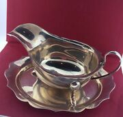 Vintage Sterling Silver Sheffield Creamer Set With Tray Made In England