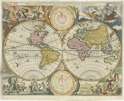 Antique Map Of The World By Stoopendaal 1682