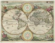Antique Map Of The World By Stoopendaal C.1714
