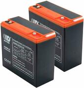 2pc 12v 20ah Sealed 6-dzm-20 Battery Lead Acid Rechargeable Scooter Trail
