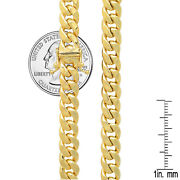 14k Yellow Gold 7.3mm Miami Cuban Link Chain Necklace Size 20-30 Free Ship