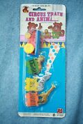 Vintage Nos Teddy Bear Toys Circus Train And Animals Sealed Toy 1983 Plastic