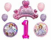 Disney's Sofia The First 1st Happy Birthday Party Balloons Decorations Supplies