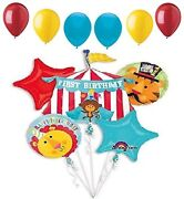 Fisher Circus Monkey Lion Tiger Tent 1st First Birthday Party 11 Balloons Set
