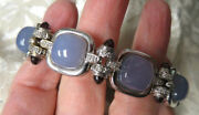 Fab John C Rinker 18k White Gold And Chalcedony And Diamond And Ruby Bullet Bracelet
