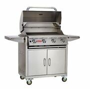 Lonestar Select 4-burner Stainless Steel Natural Gas Barbecue Grill And Cart