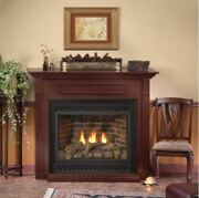 Deluxe 36 Tahoe Dv Mv Fireplace With Rectangle Mission Doors, Lp