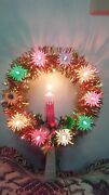 Gold Lighted Christmas Tree Topper With Candle 8 T Multi Color Lights Blinks