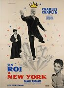Original Vintage French Movie Poster For Un Roi A New York C. Chaplin 1957