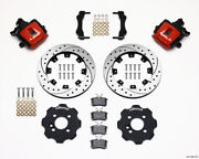 Wilwood Combination Parking Brake Rear Kit 11.75in Drilled Red For Mini Cooper -
