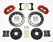 Wilwood Narrow Superlite 6r Front Hat Kit 12.88in Drill Red For Honda S2000 - Wi