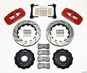 Wilwood Aero6 Front Truck Kit 14.25in Drill Red 1999-2014 Gm Truck/suv 1500 - Wi