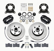 Wilwood Forged Dynalite-m Front Kit 11.30in 1 Pc Rotorandhub For 1970-1973 Mustang