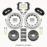 Wilwood Narrow Superlite 4r Rear Kit 12.88in Drilled 2007-up For Jeep Jk W/lines