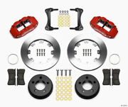 Wilwood Narrow Superlite 4r Front Kit 12.19in Drilled Red For 87-89 Jeep Yj - Wi