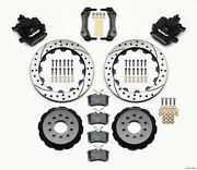 Wilwood Combination Parking Brake Rear Kit 12.88in Drilled For Mustang 94-04 - W