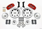 Wilwood Dynapro 6 Front Hub Kit 12.19in Drilled Red 79-87 Gm G Body - Wil140-128