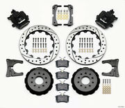 Wilwood Combination Parking Brake Rear Kit 12.88in Drilled For 2005-2014 Mustang