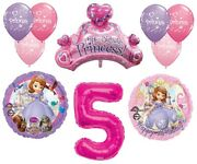 Disney's Sofia The First 5th Happy Birthday Party Balloons Decorations Supplies