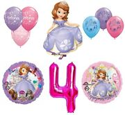 Disney's Sofia The First 4th Happy Birthday Party Balloons Decoration Supplies B