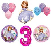 Disney's Sofia The First 3rd Happy Birthday Party Balloons Decoration Supplies B