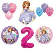 Disney's Sofia The First 2nd Happy Birthday Party Balloons Decoration Supplies B