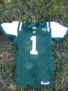 New York Jets Authentic Reebok Nfl Equipment Jersey Green Rare Limited Edition
