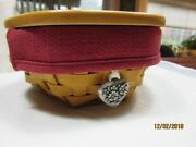 Longaberger Classic Sage Booking Basket Set With Lid And Tie-on