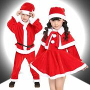 3pcs Christmas Santa Claus Suit Costume Suit Baby Boy Girl Kids New Year Childr