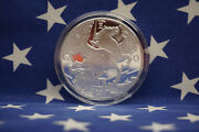 2017 Pegasus Horse 1 Troy Oz .999 Fine Solid Silver Coin Encapsulated Goldsilver