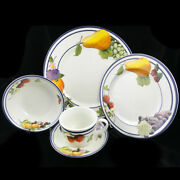 Fruit Groves By Lenox 5 Piece Place Setting New Never Used Made In Japan