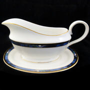 Lenox Royal Kelly Gravy Boat And Stand Made In Usa New Never Used